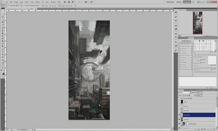 Uartsy - Photoshop 未来城市概念设计教程