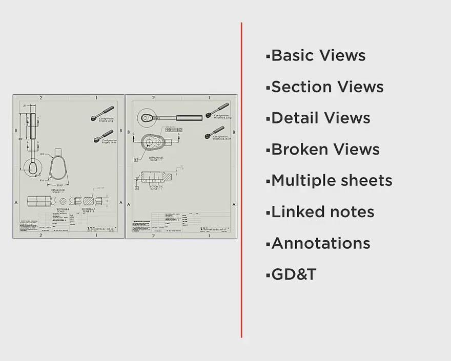Pluralsight - SOLIDWORKS 基础 - 基本图纸