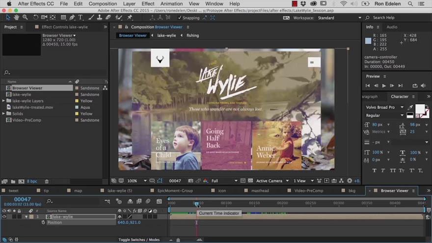 InfiniteSkills - After Effects 网页动画原型创作教程