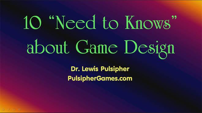 SkillShare - 游戏设计必须了解的10个知识(纯理论,英文)