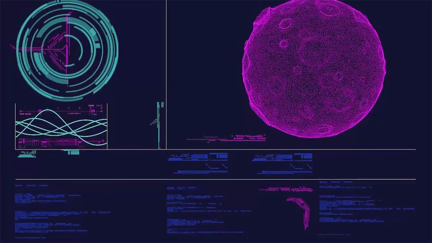 After Effects 里使用Trapcode Form 创建科幻风格的人机界面