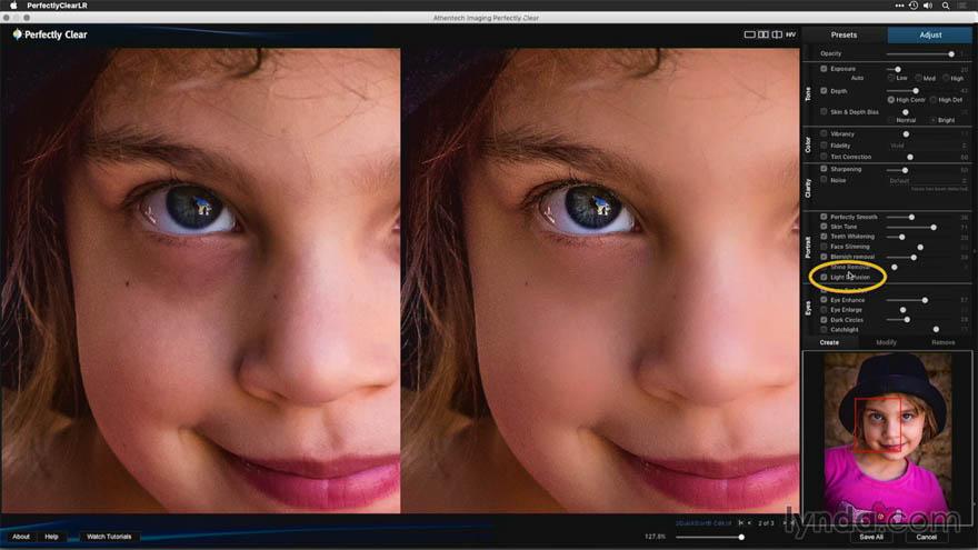 Lynda - Perfectly Clear 让照片更清晰的调节教程