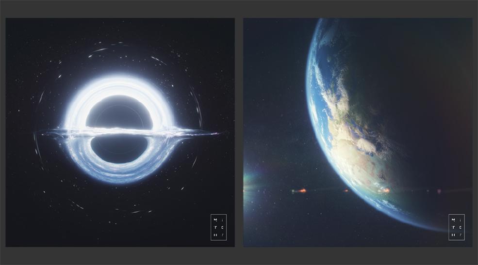 9大行星黑洞星球C4D模型工程 The Deep Void Collection PLANET PACK