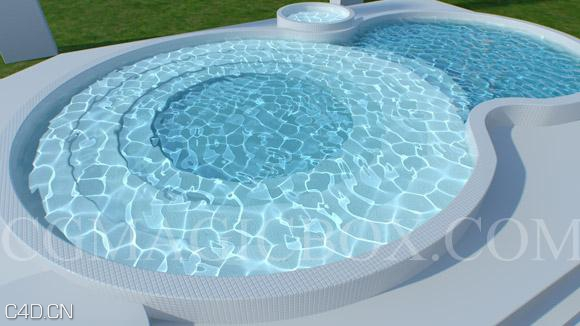 C4D制作水面焦散效果视频教程(含工程文件) Swimming pool Caustics