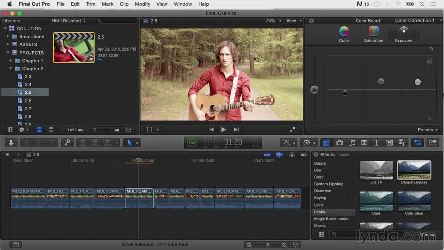 Lynda - Final Cut Pro X 专家教程:颜色调节