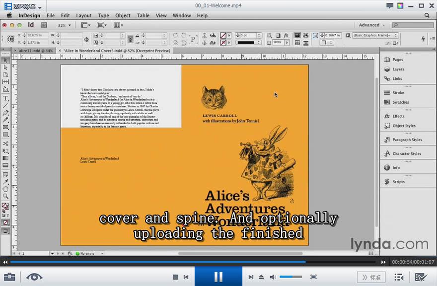 Lynda - indesign设计一本书教程
