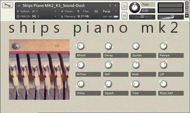 sound DUST Ships Piano MK2 KONTAKT